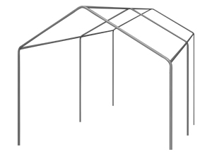 Partytent frames